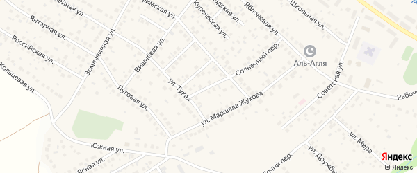 Покровский переулок на карте села Дмитриевки с номерами домов
