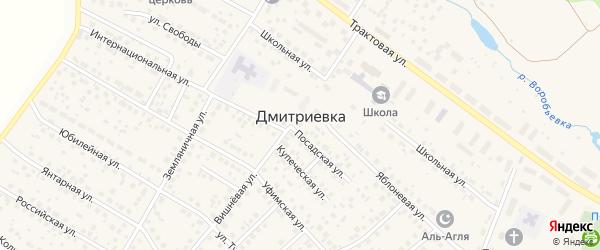 Строительный переулок на карте села Дмитриевки с номерами домов