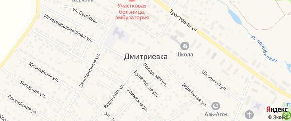 Радужный переулок на карте села Дмитриевки с номерами домов
