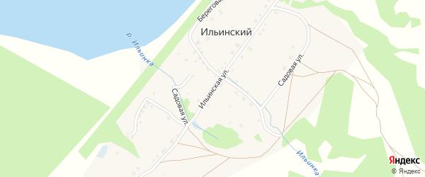 Ильинская улица на карте деревни Ильинского с номерами домов