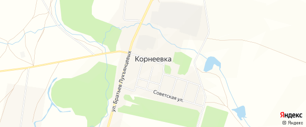 Карта деревни Корнеевки в Башкортостане с улицами и номерами домов