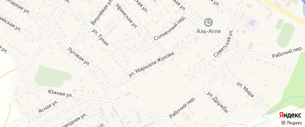 Улица М.Жукова на карте села Дмитриевки с номерами домов