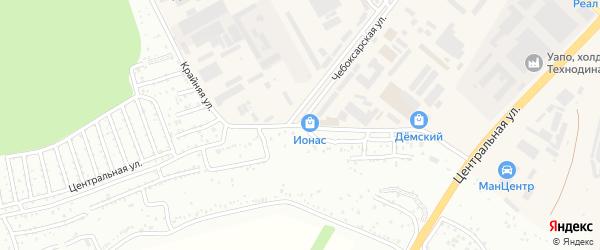 Крайняя улица на карте Уфы с номерами домов