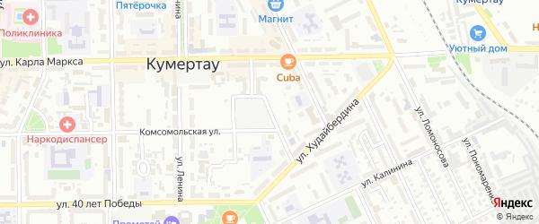 Улица Матросова на карте Кумертау с номерами домов