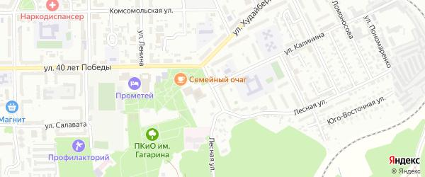 Улица Искужина на карте Кумертау с номерами домов