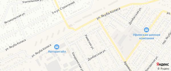 Бижбулякская улица на карте Уфы с номерами домов