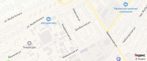 Ермекеевская улица на карте Уфы с номерами домов