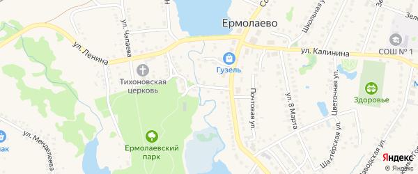 Ново-Мостовая улица на карте села Ермолаево с номерами домов