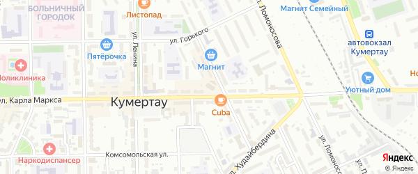 Улица Массив 14 К.Маркса на карте Кумертау с номерами домов