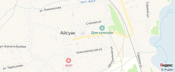 Совхозная улица на карте села Айсуак с номерами домов