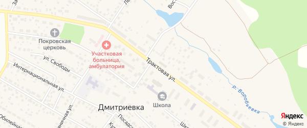Трактовая улица на карте села Дмитриевки с номерами домов