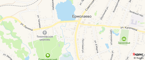 Овражная улица на карте села Ермолаево с номерами домов