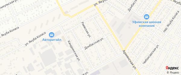 Раевская улица на карте Уфы с номерами домов
