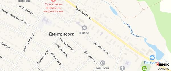 Школьная улица на карте села Дмитриевки с номерами домов