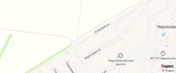 Кленовая улица на карте села Чернолесовского с номерами домов