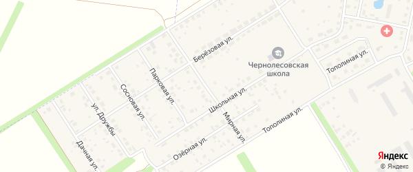 Мирная улица на карте села Чернолесовского с номерами домов