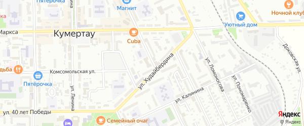Шахтостроительная улица на карте Кумертау с номерами домов