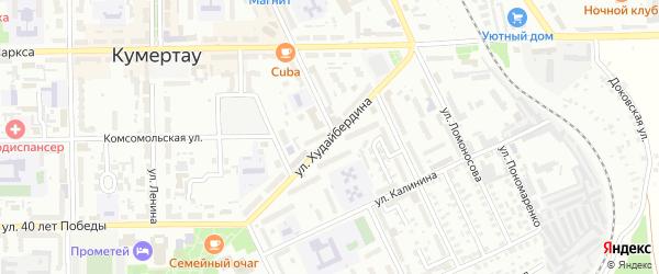 Сквер им Ш.Худайбердина на карте Кумертау с номерами домов