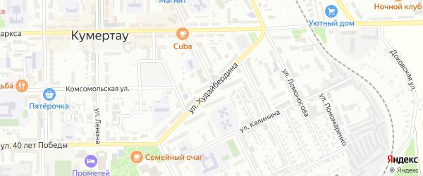 Улица Худайбердина на карте Кумертау с номерами домов