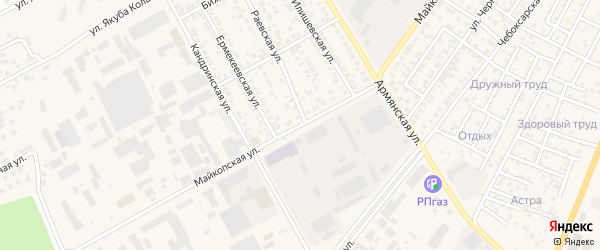 Майкопская улица на карте Уфы с номерами домов
