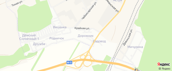 СТ СНО Дорожник на карте Уфы с номерами домов