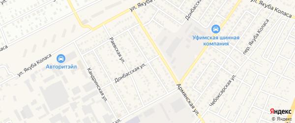 Илишевская улица на карте Уфы с номерами домов