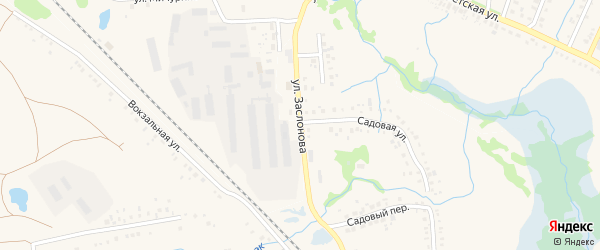 Улица Заслонова на карте села Айсуак с номерами домов