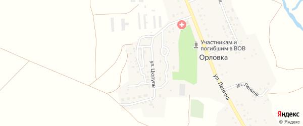 Улица Цюрупы на карте деревни Орловки с номерами домов