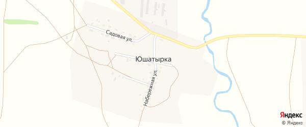 Набережная улица на карте деревни Юшатырки с номерами домов
