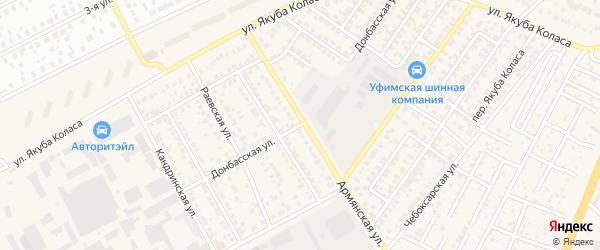 Донбасская улица на карте Уфы с номерами домов