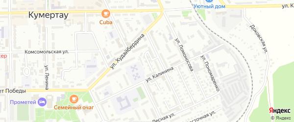 Новогодний 2-й переулок на карте Кумертау с номерами домов