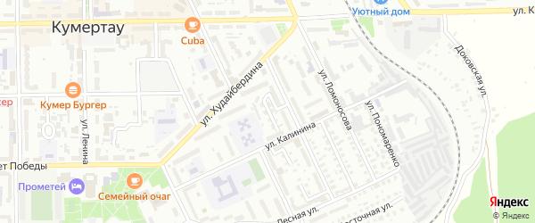Калинина 2-й переулок на карте Кумертау с номерами домов