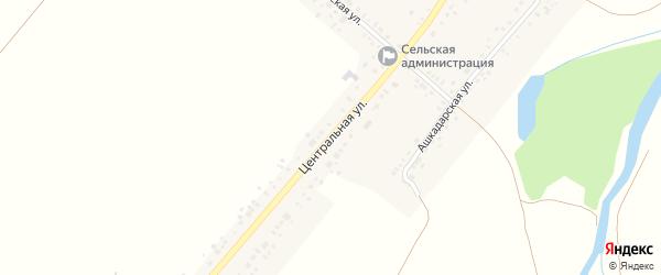 Центральная улица на карте села Айгулево с номерами домов
