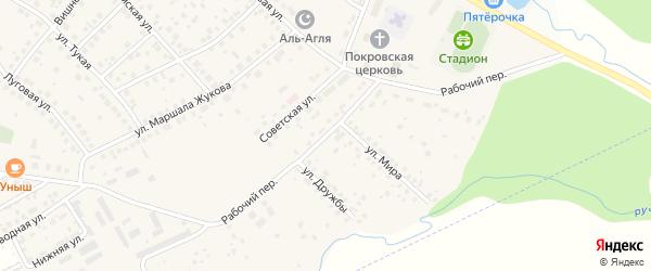 Рабочий переулок на карте села Дмитриевки с номерами домов