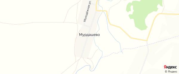 Карта села Мурдашево в Башкортостане с улицами и номерами домов