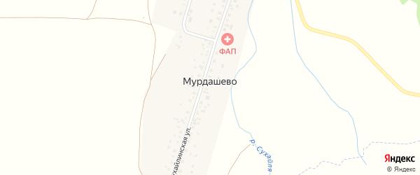 Сухайлинская улица на карте села Мурдашево с номерами домов