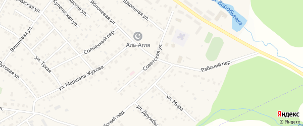 Советская улица на карте села Дмитриевки с номерами домов