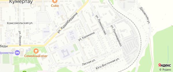 Улица Калинина на карте Кумертау с номерами домов