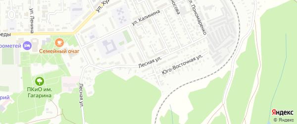 Лесная улица на карте Кумертау с номерами домов