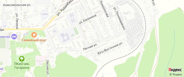 Лесной переулок на карте Кумертау с номерами домов