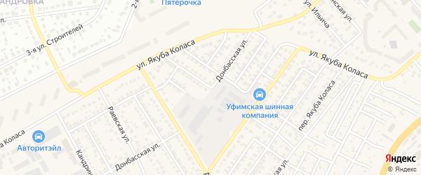 Архангельская улица на карте Уфы с номерами домов
