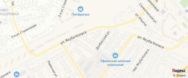 Хайбуллинский 1-й переулок на карте Уфы с номерами домов