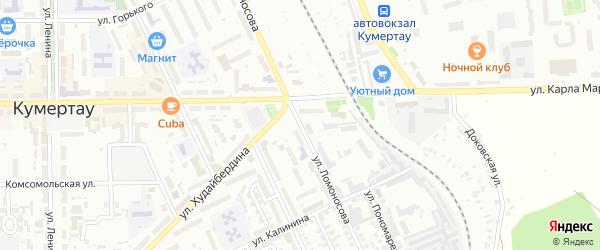 Улица Ломоносова на карте Кумертау с номерами домов