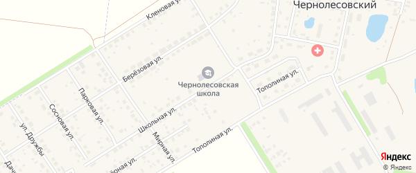 Школьная улица на карте села Чернолесовского с номерами домов