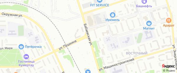Бабаевская улица на карте Кумертау с номерами домов