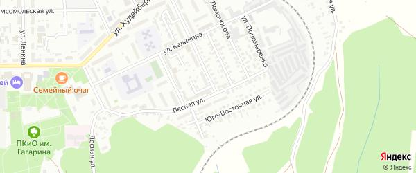 Новогодний 1-й переулок на карте Кумертау с номерами домов