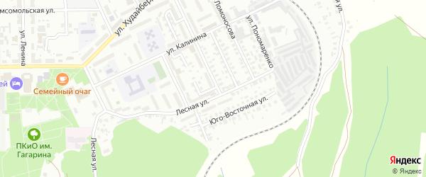 Луговой 1-й переулок на карте Кумертау с номерами домов