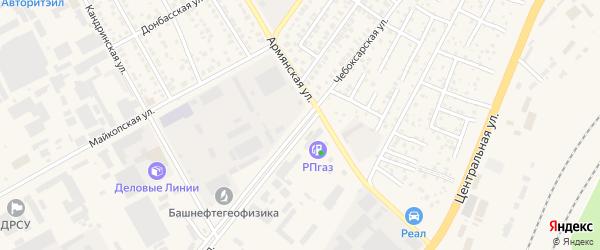 Чебоксарская улица на карте Уфы с номерами домов