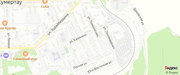 Калинина 1-й переулок на карте Кумертау с номерами домов