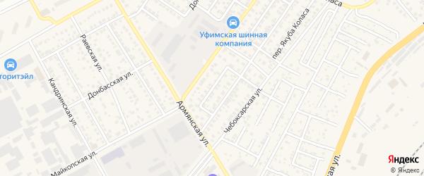 Чебоксарский переулок на карте Уфы с номерами домов
